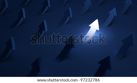 Arrows going up - success concept - stock photo
