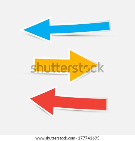 Arrows Icon Set Illustration - stock photo