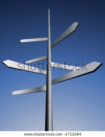 Arrows. Idea for business, travel and other industry. - stock photo