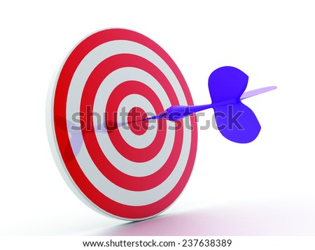 arrows in aim target.  - stock photo
