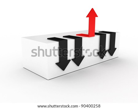 Arrows. Make your choice. 3D image - stock photo