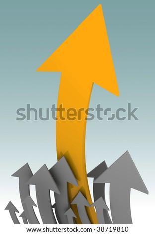 arrows specifying top - stock photo