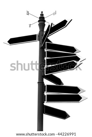 arrows to guide the directions - stock photo