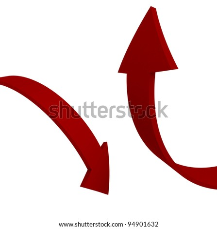 Arrows Up and Down - stock photo
