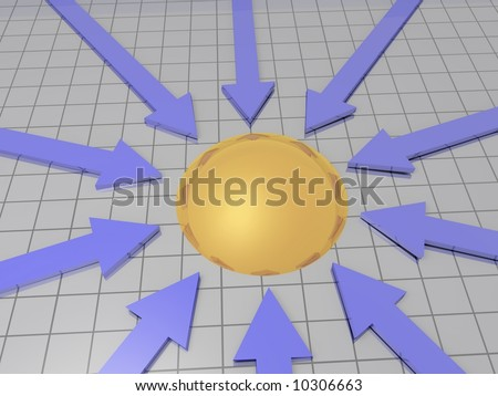 Arrows with Target - stock photo