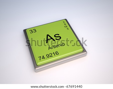Arsenic chemical element of the periodic table with symbol As