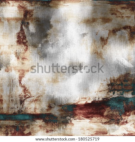 art abstract acrylic background in white, grey, brown, purple and green-blue colors - stock photo