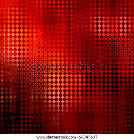 art abstract bright red glass geometric pattern, monochrome background