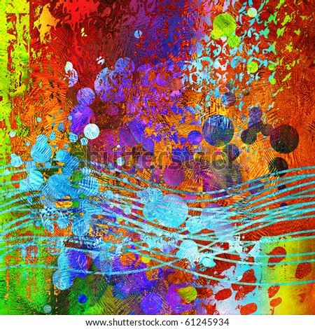 art abstract colorful background - stock photo
