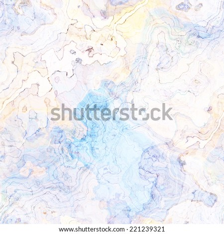 art abstract colorful chaotic waves seamless pattern, transparency background in white and blue colors - stock photo
