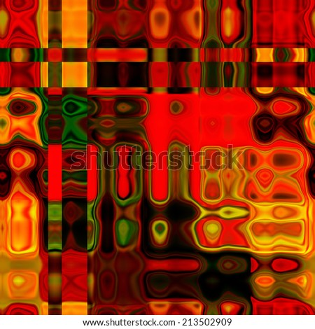 art abstract colorful geometric seamless pattern; background in red, green and gold colors
