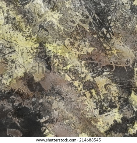 art abstract colorful watercolor background in light yellow, beige, grey and black colors - stock photo