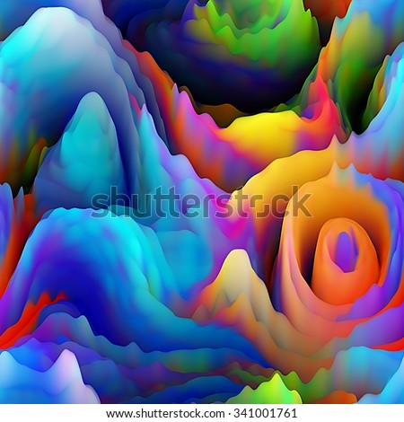 art abstract fractal wave  blurred colorful background in rainbow colors; seamless pattern; 3d effect - stock photo