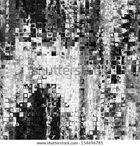 art abstract geometric monochrome background in black and white colors, seamless pattern - stock photo
