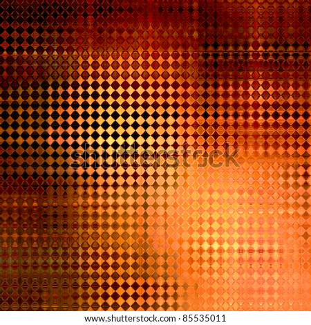 art abstract geometric pattern, glass orange and gold background