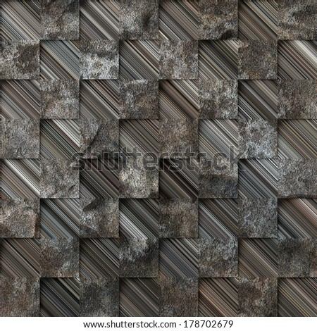 Art abstract geometric textured grungy background. Seamless pattern.