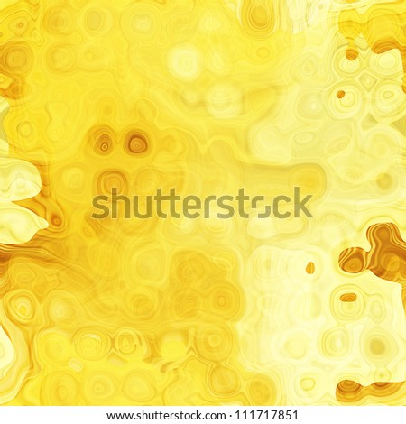 art abstract geometric yellow texture background with chaotic big halftone; seamless pattern - stock photo