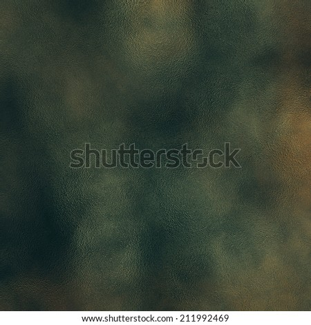 art abstract glass textured background in green, black and gold colors
