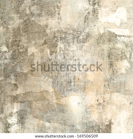 art abstract graphic and watercolor background in white, beige and grey colors - stock photo