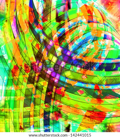 art abstract graphic rainbow pattern background
