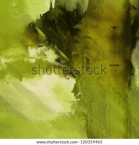 art abstract grunge dust textured monochrome background in shades of green and old gold colors - stock photo
