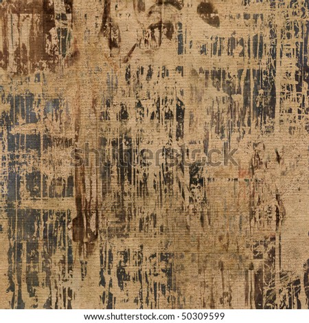 art abstract grunge graphic paper textured background in beige with brown and dark grey blots - stock photo