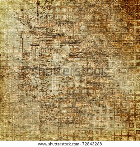 art abstract grunge graphic, textured beige background - stock photo