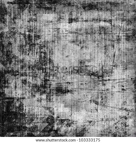 art abstract grunge textured black and white background - stock photo