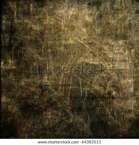 art abstract grunge vintage textured monochrome dark brown, black and beige background - stock photo