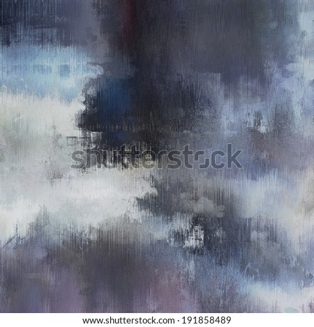 art abstract monochrome acrylic and pencil background in blue, white, grey and black colors - stock photo