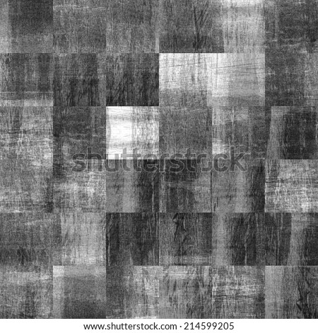 art abstract monochrome geometric pattern, grunge tiled background in white, grey and black colors