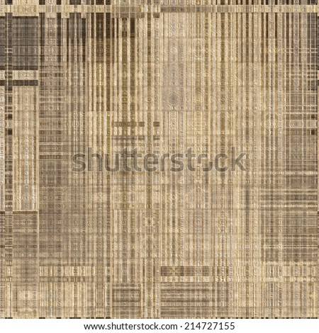 art abstract monochrome geometric seamless pattern; paper textured tiled background in beige and brown colors - stock photo