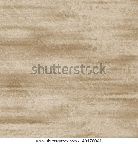 art abstract monochrome watercolor background on paper texture in beige and brown colors - stock photo