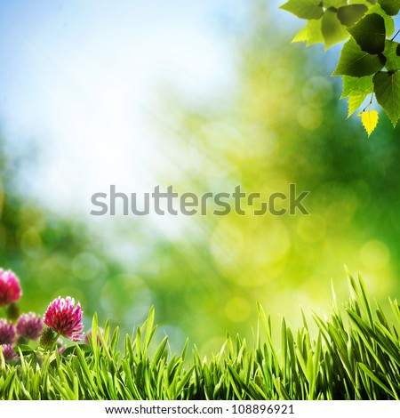 Art abstract natural backgrounds with beauty bokeh - stock photo