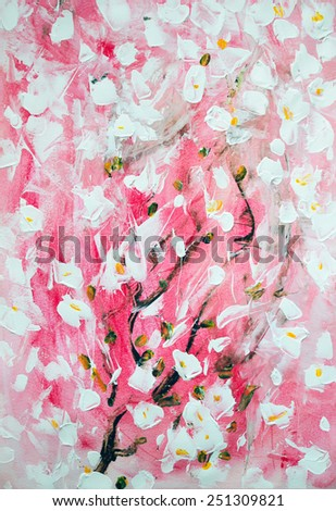 Art abstract paint with acrylic colors - stock photo