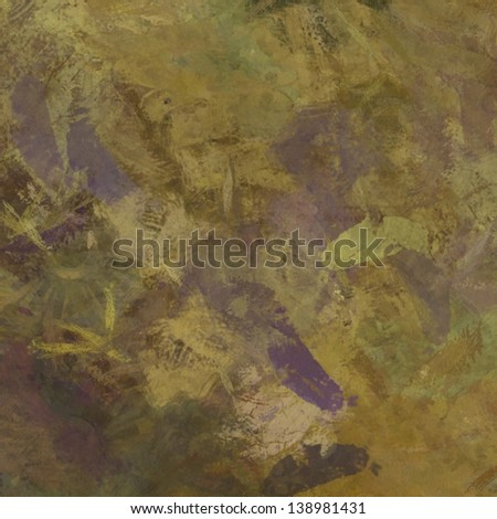art abstract painted background in beige, green, brown and violet colors - stock photo