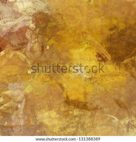 art abstract painted background in beige, old gold and brown colors - stock photo