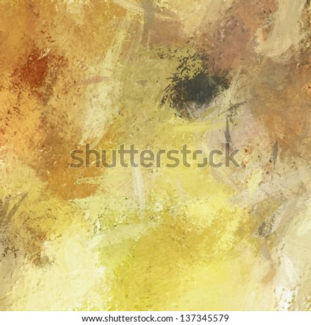 art abstract painted background in beige, yellow, orange, red and brown colors - stock photo