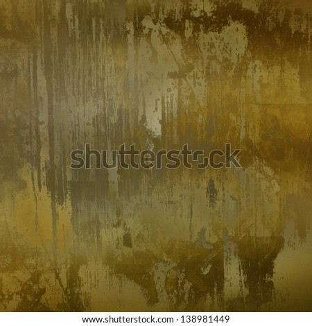 art abstract painted background in green. brown and dark beige colors - stock photo