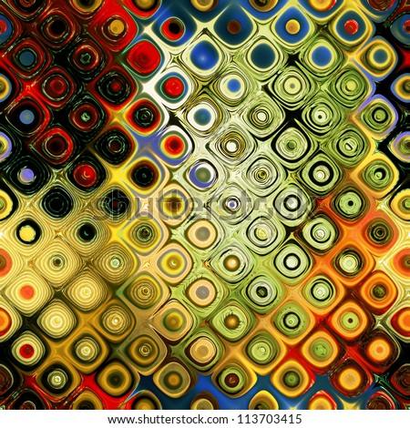 art abstract rainbow geometric seamless pattern background - stock photo