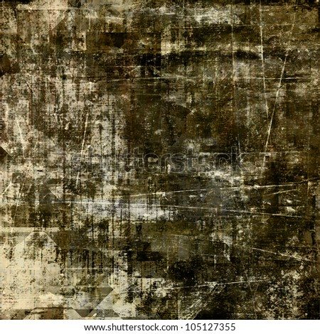 art abstract raster grunge textured field drab, black and beige background - stock photo