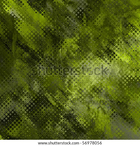 art abstract tiles background in green color - stock photo
