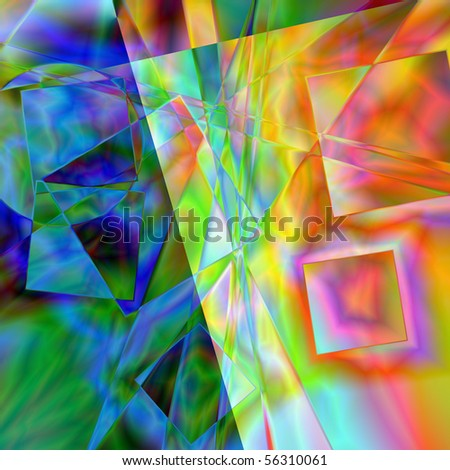 art abstract transparency colorful, geometric background - stock photo
