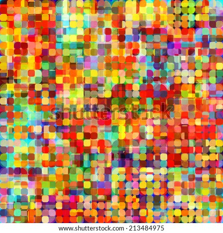 art abstract vibrant rainbow, geometric seamless points pattern background - stock photo