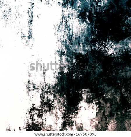 art abstract watercolor background in white, green-blue and black colors - stock photo