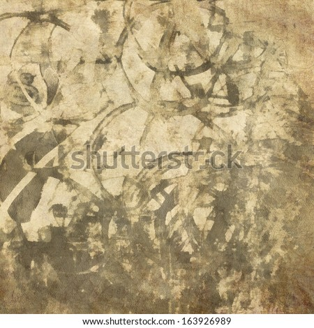 art abstract watercolor sepia background with dark blots - stock photo