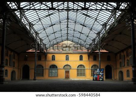 Art academy lyon france february 16 2017 courtyard of art academy