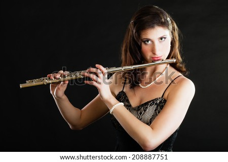 Variant Naked girls with flute