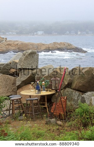 Art and Inspiration Oceanside - Rockport, Massachusetts, USA - stock photo