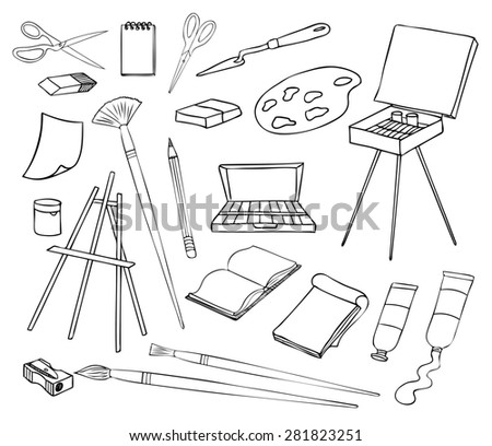art and painting  - stock photo